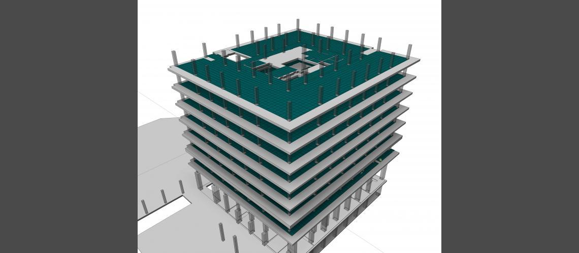 BIM construction model view