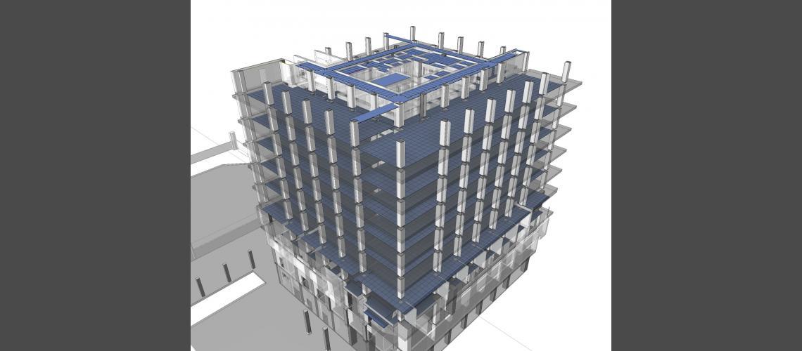 BIM structures model view