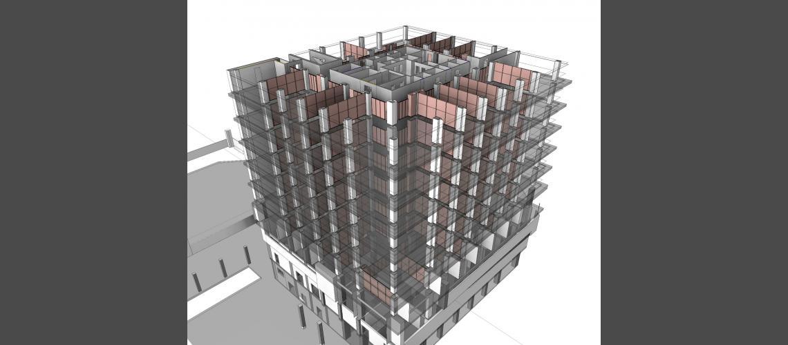BIM internal partitions model view