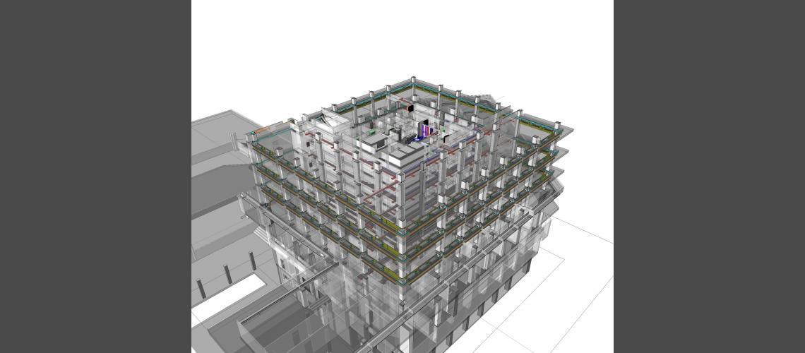 BIM mechanical plants model view