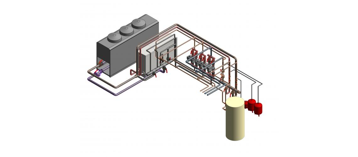 BIM heating system in roof covering